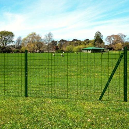Euro Fence Set 10x1.96 m Steel GreenHome &amp; Garden<br>Euro Fence Set 10x1.96 m Steel Green<br>