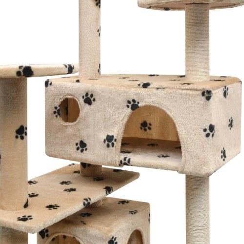 Gato Gato Árvore 125 cm Paw Print Bege