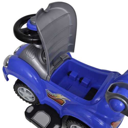 Blue Childrens Ride-on Car with Push BarHome &amp; Garden<br>Blue Childrens Ride-on Car with Push Bar<br>