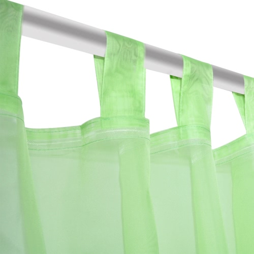 Apple Green Sheer Curtain 140 x 175 cm 2 pcsHome &amp; Garden<br>Apple Green Sheer Curtain 140 x 175 cm 2 pcs<br>