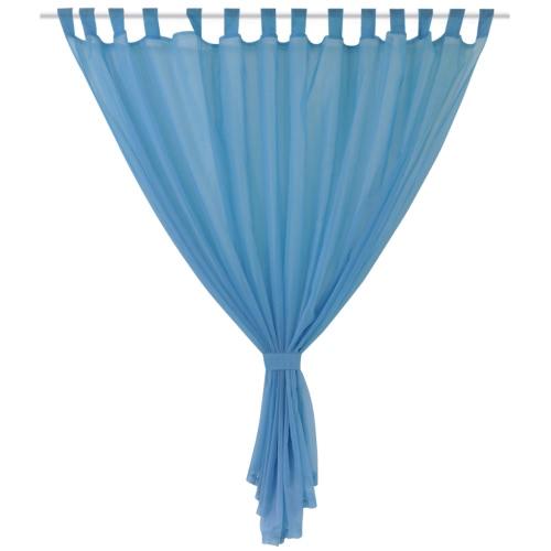 2 pcs Sheer Curtain 290 x 225 cm TurquoiseHome &amp; Garden<br>2 pcs Sheer Curtain 290 x 225 cm Turquoise<br>