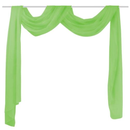 Sheer Voile Drape 140 x 600 cm GreenHome &amp; Garden<br>Sheer Voile Drape 140 x 600 cm Green<br>