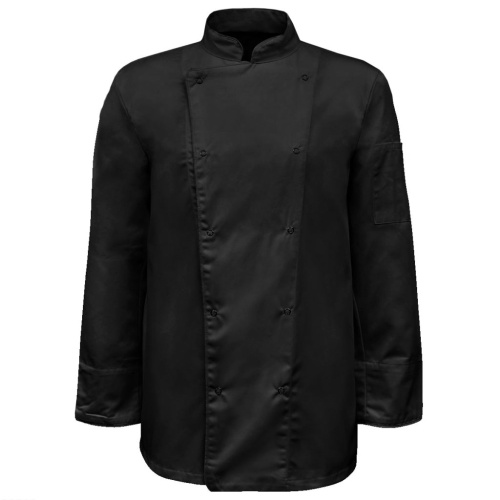 Chef Jackets 2 pcs Long Sleeve Size XXL Black
