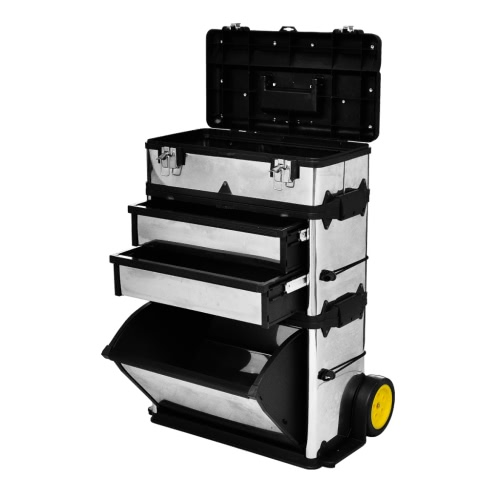 3-Part Rolling Tool Box with 2 WheelsTest Equipment &amp; Tools<br>3-Part Rolling Tool Box with 2 Wheels<br>