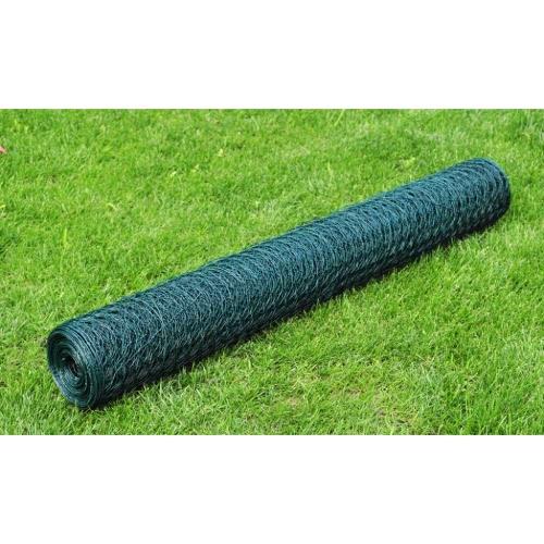 Rete metallica per recinzione a maglia esagonale rivest. PVC 0,9 mmHome &amp; Garden<br>Rete metallica per recinzione a maglia esagonale rivest. PVC 0,9 mm<br>