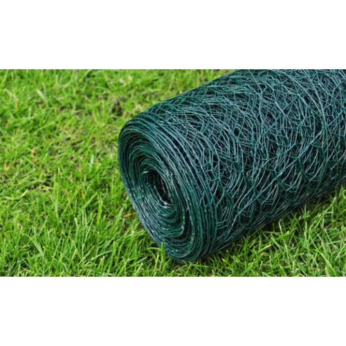 Hexagonal Wire Netting 50 cm x 25 m PVC-coated Thickness 1,1 mmHome &amp; Garden<br>Hexagonal Wire Netting 50 cm x 25 m PVC-coated Thickness 1,1 mm<br>