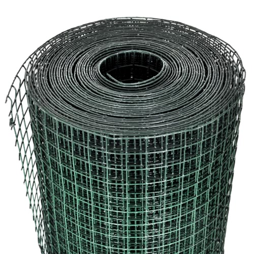 Square Wire Netting 1 m x 25 m PVC-coated and GalvanizedHome &amp; Garden<br>Square Wire Netting 1 m x 25 m PVC-coated and Galvanized<br>
