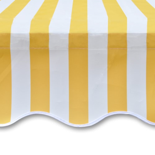 Awning Top Sunshade Canvas Yellow &amp; White 3x2,5m (Frame Not Included)Home &amp; Garden<br>Awning Top Sunshade Canvas Yellow &amp; White 3x2,5m (Frame Not Included)<br>