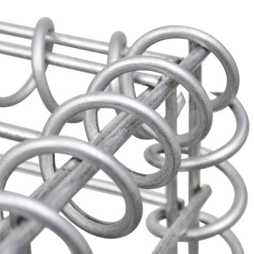 Gabion Basket Wall with Lids Galvanized Wire 100 x 100 x 30 cmHome &amp; Garden<br>Gabion Basket Wall with Lids Galvanized Wire 100 x 100 x 30 cm<br>