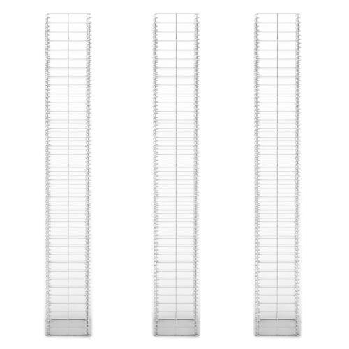 Gabion Set Gabion Wall Galvanized Wire 25 x 25 x 197 cm 3 pcsHome &amp; Garden<br>Gabion Set Gabion Wall Galvanized Wire 25 x 25 x 197 cm 3 pcs<br>