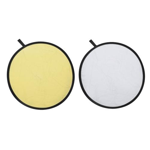 2-in-1 or et d'argent réflecteur Backdrop 80 cm
