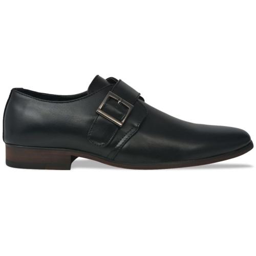 أحذية مونك حزام أسود حجم 45 بو الجلود