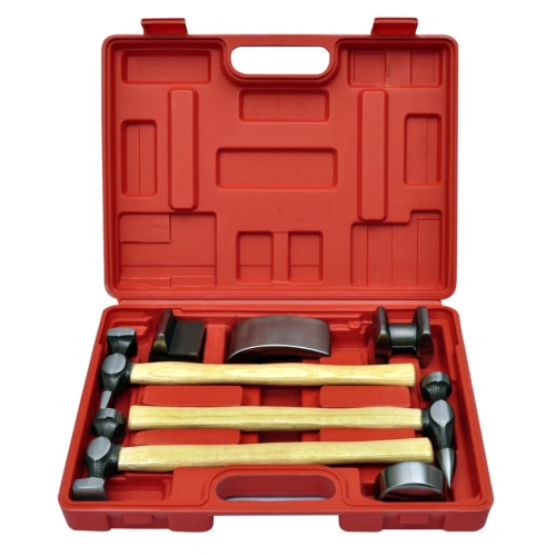 Set de marteau et tas pour carrossier 7 pi?cesTest Equipment &amp; Tools<br>Set de marteau et tas pour carrossier 7 pi?ces<br>