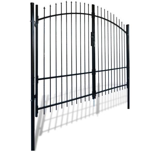 Portail double porte surmont? de piques 300 x 248 cmHome &amp; Garden<br>Portail double porte surmont? de piques 300 x 248 cm<br>