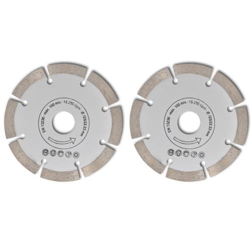 2 disques diamant?s pour meuleuse 125 mmHome &amp; Garden<br>2 disques diamant?s pour meuleuse 125 mm<br>