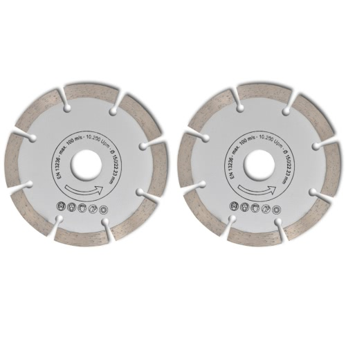 2 disques diamant?s pour meuleuse150 mmHome &amp; Garden<br>2 disques diamant?s pour meuleuse150 mm<br>