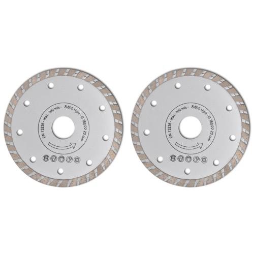 2 disques diamant?s turbo pour meuleuse 180 mm 2,2 mmHome &amp; Garden<br>2 disques diamant?s turbo pour meuleuse 180 mm 2,2 mm<br>