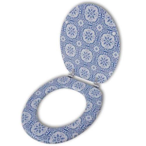 Coperchio da Toilette in MDF con Modello PorcellanaHome &amp; Garden<br>Coperchio da Toilette in MDF con Modello Porcellana<br>