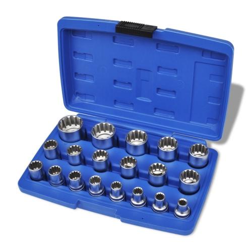 Coffret Set de 19 Douilles SplineTest Equipment &amp; Tools<br>Coffret Set de 19 Douilles Spline<br>