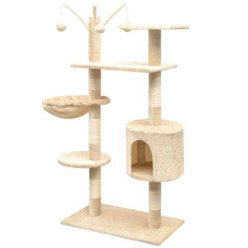 Árvore de Gato com Arranhões em Sisal 125 cm Bege