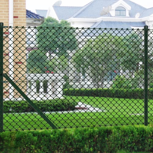 Chain fence 2 7 x 49 2 Green with Posts &amp; All HardwareHome &amp; Garden<br>Chain fence 2 7 x 49 2 Green with Posts &amp; All Hardware<br>