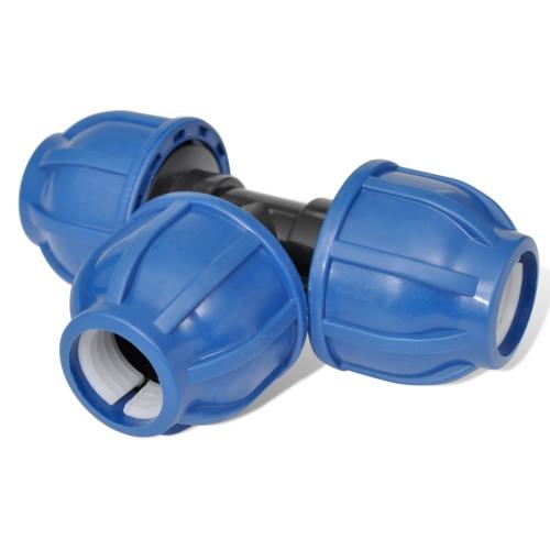 Conector De Manguera De PE T Igual 16 Bar 20mm 4 PiezasHome &amp; Garden<br>Conector De Manguera De PE T Igual 16 Bar 20mm 4 Piezas<br>