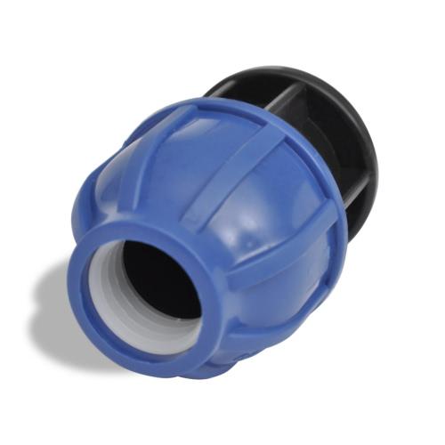 Conector De Manguera De PE Com. Tapa De Extremo 16 Bar 20 mm 2 PiezasHome &amp; Garden<br>Conector De Manguera De PE Com. Tapa De Extremo 16 Bar 20 mm 2 Piezas<br>