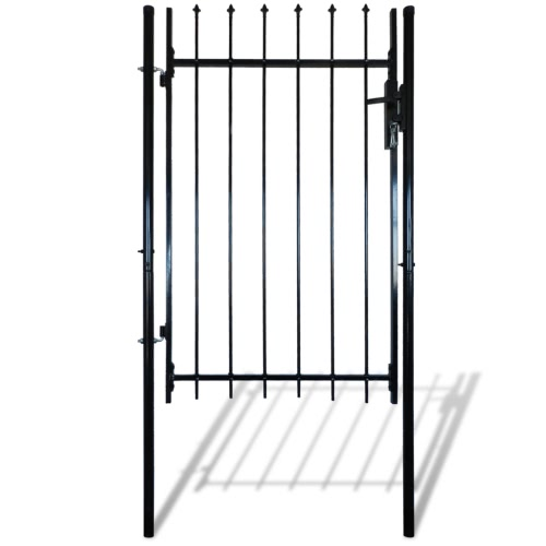 Single Door Fence Gate with Spear Top 39W x 67HHome &amp; Garden<br>Single Door Fence Gate with Spear Top 39W x 67H<br>