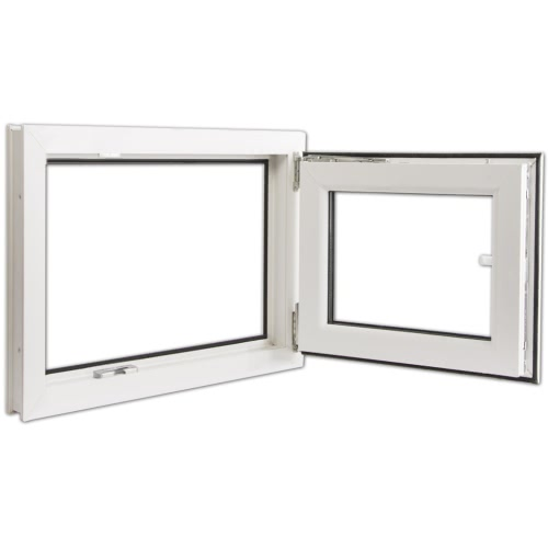 Ventana PVC oscilo-batiente triple cristal manilla izq 800x500 mmHome &amp; Garden<br>Ventana PVC oscilo-batiente triple cristal manilla izq 800x500 mm<br>