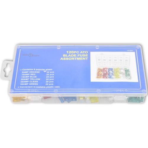 Surtido de fusibles de cuchilla est?ndar 5-30 amp (120 unidades)Test Equipment &amp; Tools<br>Surtido de fusibles de cuchilla est?ndar 5-30 amp (120 unidades)<br>