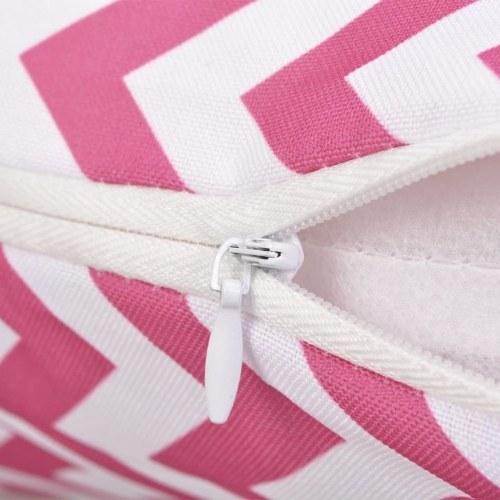 Outdoor Cushions 2 pcs Zig-zag Print 45x45 cm Pink