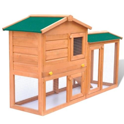 Grande gaiola de coelho ao ar livre pequena casa de madeira animais de estimação