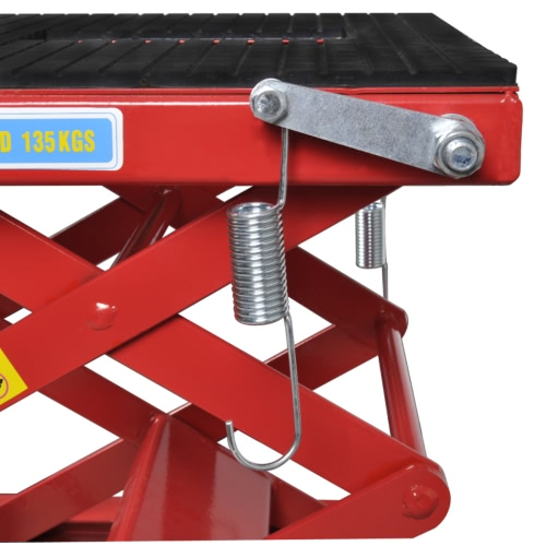 Red Motorcycle Lift 135 kg with Foot Pad, Locking Bar, Release ValveCar Accessories<br>Red Motorcycle Lift 135 kg with Foot Pad, Locking Bar, Release Valve<br>