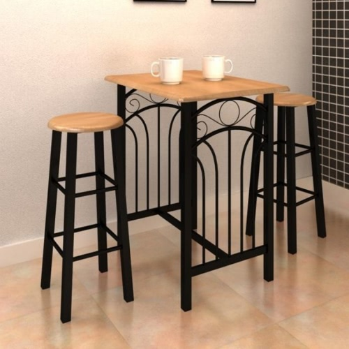 Breakfast/Dinner Table Dining Set MDF with BlackHome &amp; Garden<br>Breakfast/Dinner Table Dining Set MDF with Black<br>