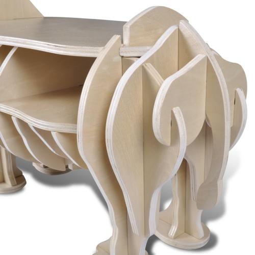 Wooden Rhino Home Decor Shelf Book Organizer Side TableHome &amp; Garden<br>Wooden Rhino Home Decor Shelf Book Organizer Side Table<br>