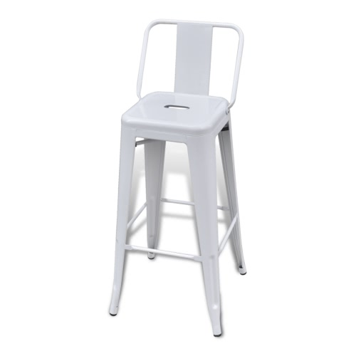 Bar Chair High Chairs Bar Stools Square 2 pcs Back WhiteHome &amp; Garden<br>Bar Chair High Chairs Bar Stools Square 2 pcs Back White<br>