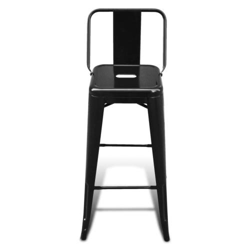 Bar Chair High Chairs Bar Stools Square 2 pcs Back BlackHome &amp; Garden<br>Bar Chair High Chairs Bar Stools Square 2 pcs Back Black<br>