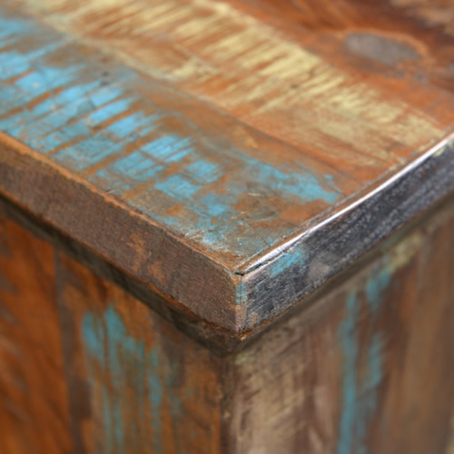 Reclaimed Wood Stool Hocker Antique ChairHome &amp; Garden<br>Reclaimed Wood Stool Hocker Antique Chair<br>