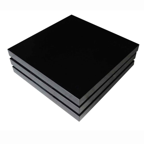 Coffee Table 3 Layers Black High GlossHome &amp; Garden<br>Coffee Table 3 Layers Black High Gloss<br>