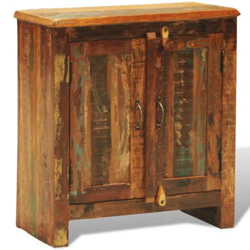 Reclaimed Wood Cabinet with Two Doors Vintage Antique-styleHome &amp; Garden<br>Reclaimed Wood Cabinet with Two Doors Vintage Antique-style<br>