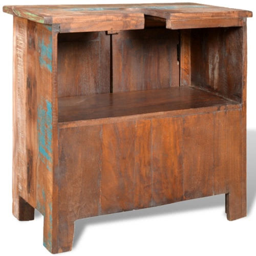 Reclaimed Solid Wood Bathroom Vanity Cabinet Set with MirrorHome &amp; Garden<br>Reclaimed Solid Wood Bathroom Vanity Cabinet Set with Mirror<br>