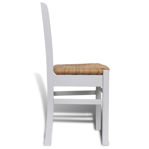 2 pcs White Paint Wooden Dinning ChairHome &amp; Garden<br>2 pcs White Paint Wooden Dinning Chair<br>