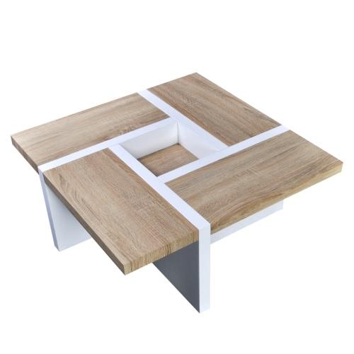 Oak / White High Gloss Coffee TableHome &amp; Garden<br>Oak / White High Gloss Coffee Table<br>