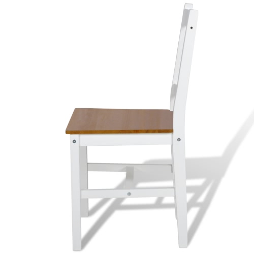 2 pcs White and Natural Colour Wood Dinning ChairHome &amp; Garden<br>2 pcs White and Natural Colour Wood Dinning Chair<br>