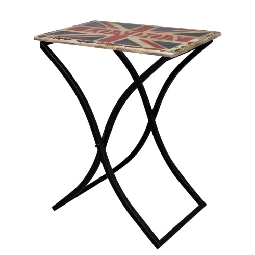 Shabby Chic Coffee Table / Side Table Wood with Union Jack DesignHome &amp; Garden<br>Shabby Chic Coffee Table / Side Table Wood with Union Jack Design<br>