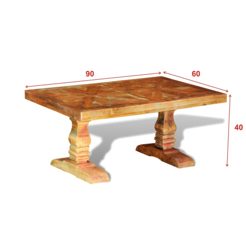 Reclaimed Solid Wood Coffee Table Antique-styleHome &amp; Garden<br>Reclaimed Solid Wood Coffee Table Antique-style<br>