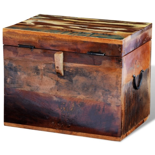 Reclaimed Solid Wood Storage BoxHome &amp; Garden<br>Reclaimed Solid Wood Storage Box<br>