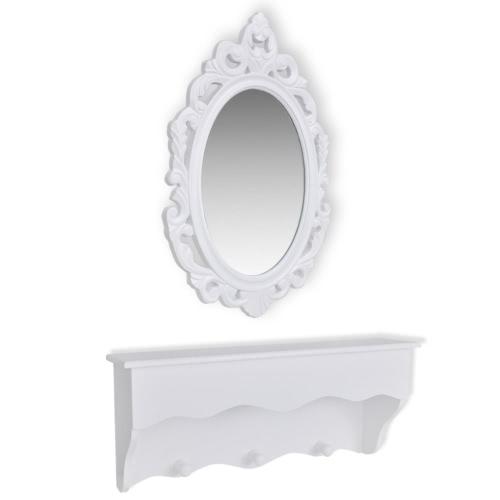 Set armário para chaves e jóias com espelho e gancho