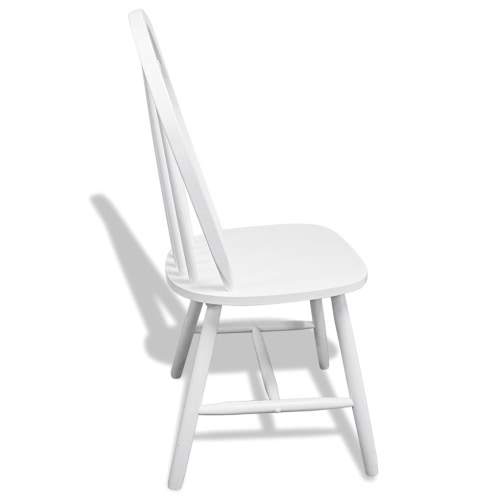 2 Wooden Dining Chairs Round WhiteHome &amp; Garden<br>2 Wooden Dining Chairs Round White<br>