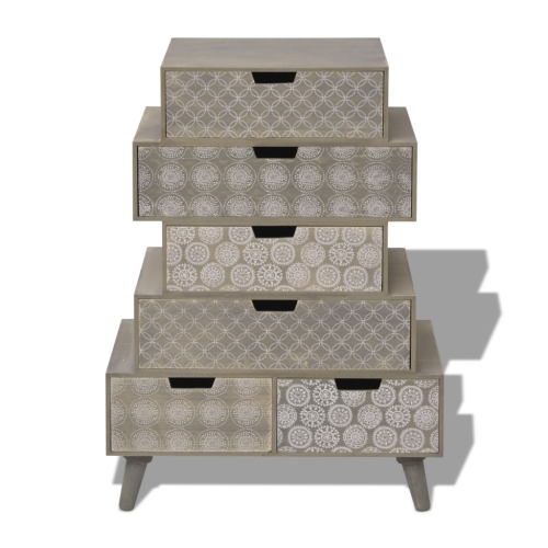 Side Cabinet 6 Drawers GreyHome &amp; Garden<br>Side Cabinet 6 Drawers Grey<br>